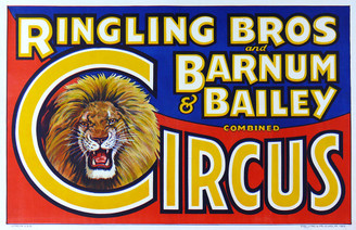 Vintage Ringling Bros Barnum & Bailey Combined Circus Poster