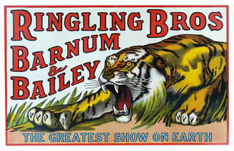 Ringling Bros Barnum & Bailey The Greatest Show oN Earth Tiger Poster