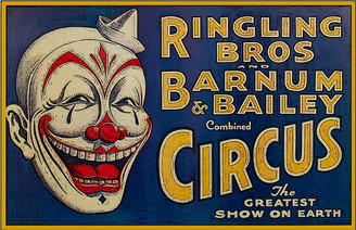Ringling Bros Barnum Bailey Circus Head Shot of Clown Horizontal Poster
