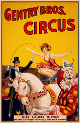 Miss Louise Hilton Gentry Bros. Circus Poster
