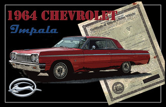 Vintage 1964 Chevorlet Impala with Title Poster