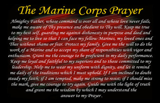 The Marine Corps Prayer Poster