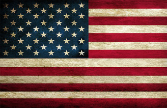 Distressed American Flag Poster