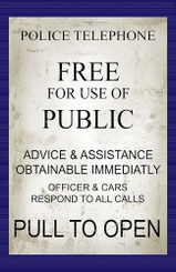Dr. Who Police Telephone Free For Use of Assistance Poster