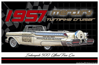 1957 Mercury Turnpike Cruiser Indy Pace Car Poster