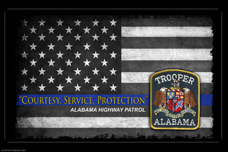 Courtesy, Service, Protection Alabama Highway Patrol Poster