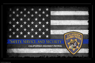 Safety, Service And Security California Highway Patrol Poster