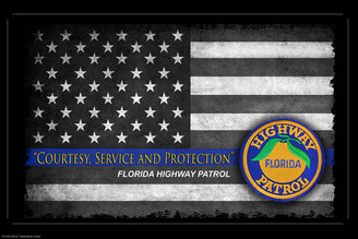 Courtesy, Service and Protection Florida Highway Patrol Poster