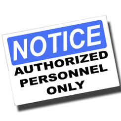 Notice No Admittance Emplyees Only 8x12 Metal Sign