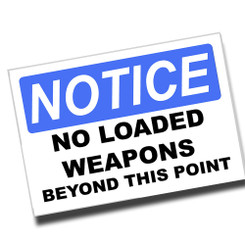Notice Eyes & Ear protection Required 8x12 Metal Sign
