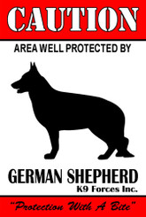 Protected By German Shepherd K9 Forces 8x12 Metal Sign-Personalize