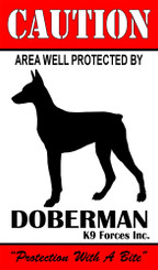 Protected By Doberman K9 Forces 8x12 Metal Sign