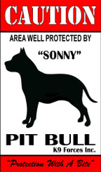Protected By Doberman K9 Forces 8x12 Metal Sign-Personalize