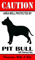 Protected By Pit Bull K9 Forces 8x12 Metal Sign
