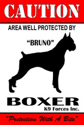 Protected By Pit Bull K9 Forces 8x12 Metal Sign-Personalize