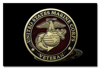 United States Marine Corps Veteran 8 x 12 Aluminum Decorative Sign