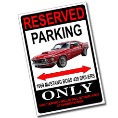 Reserved Parking Eaglemoss Klingon D4 Only 8x12 Metal Poster