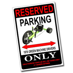 Reserved Parking 1974 AMC Javelin AMX Only 8x12 Metal Poster