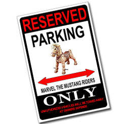 Reserved Parking Droid Control Ship Only 8x12 Metal Poster