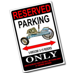Reserved Parking BTS-A2 Long Range Strike Fighter Only 8x12 Metal Poster