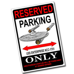 Reserved Parking 2007 HD Night-Rod Only 8x12 Metal Poster