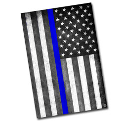 "Thin Blue Line 8"" x 12"" Decorative Aluminum Sign"