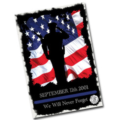 "Police September 11th We Will Never Forget 12"" x 8"" Memorial Sign"
