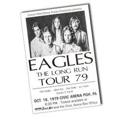 "Eagles The Long Run Tour 79 Ticket 8"" x 12"" Sign"