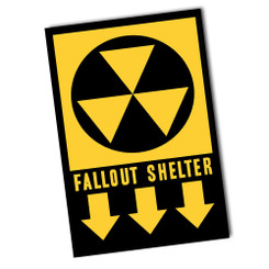 "Fallout Shelter 8"" x 12"" Sign"