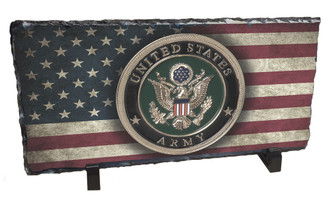 U.S. Army American Flag Slate Rock