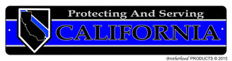 Protecting & Serving California Street Sign