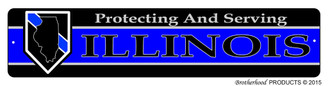 Protecting & Serving Ilinois Street Sign