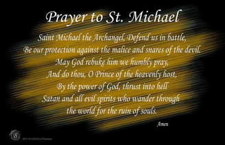 Prayer To Saint Michael Poster