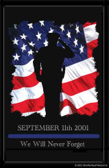 9-11 Law Enforcement Rememberance Poster