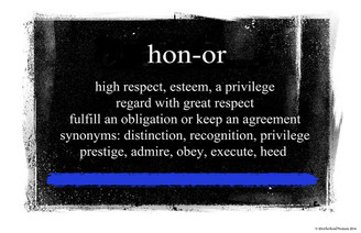 Definition of Honor Poster