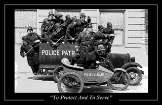 Keystone Cops To Protect & To Serve Poster