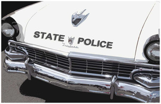 Ford Fairlane State Police Patrol Car Poster