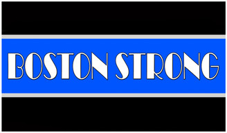 Boston Strong Thin Blue Line Decal.  For Outdoor or Indoor Use