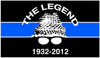 The Legend Thin Blue Line Detective Decal