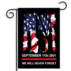 September 11 Firefighter Garden Flag For Firefighters