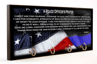 Police Officer's Prayer Key Hanger