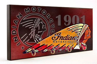 1901 Indian Motorcycle Wooden Key Hanger