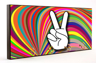 Psychedelic Hand Peace Sign Key Hanger