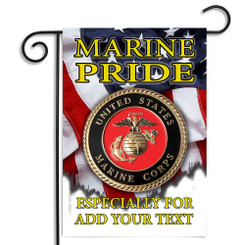 United States Marine Pride Personalized Garden Flag