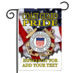 United States Coast Guard Pride Personalized Garden Flag