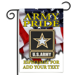 United States Army Pride Personalized Garden Flag