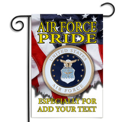 United States Air Force Pride Personalized Garden Flag