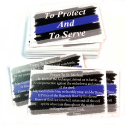 Saint Michael Police Officer's Prayer - To Protect And To Serve