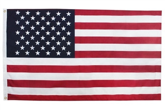 U.S. Poly Cotton Printed Indoor Decorative Display Flag - 3' x 5 '