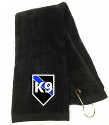 Thin Blue Line Police K9 Embroidered Golf Towel